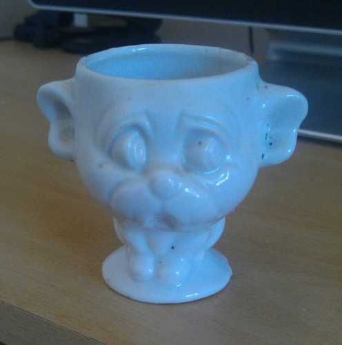 Egg cup - personality egg cup.  Um, Gollum?