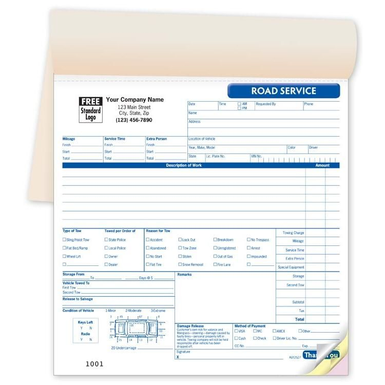 Towing invoice Booked Towing Invoice Pinterest - printing invoice