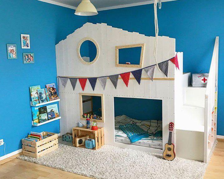 IKEA KURA Hausbett: Die besten Ideen zum Schlafen unterm Dach #kleinkindzimmer