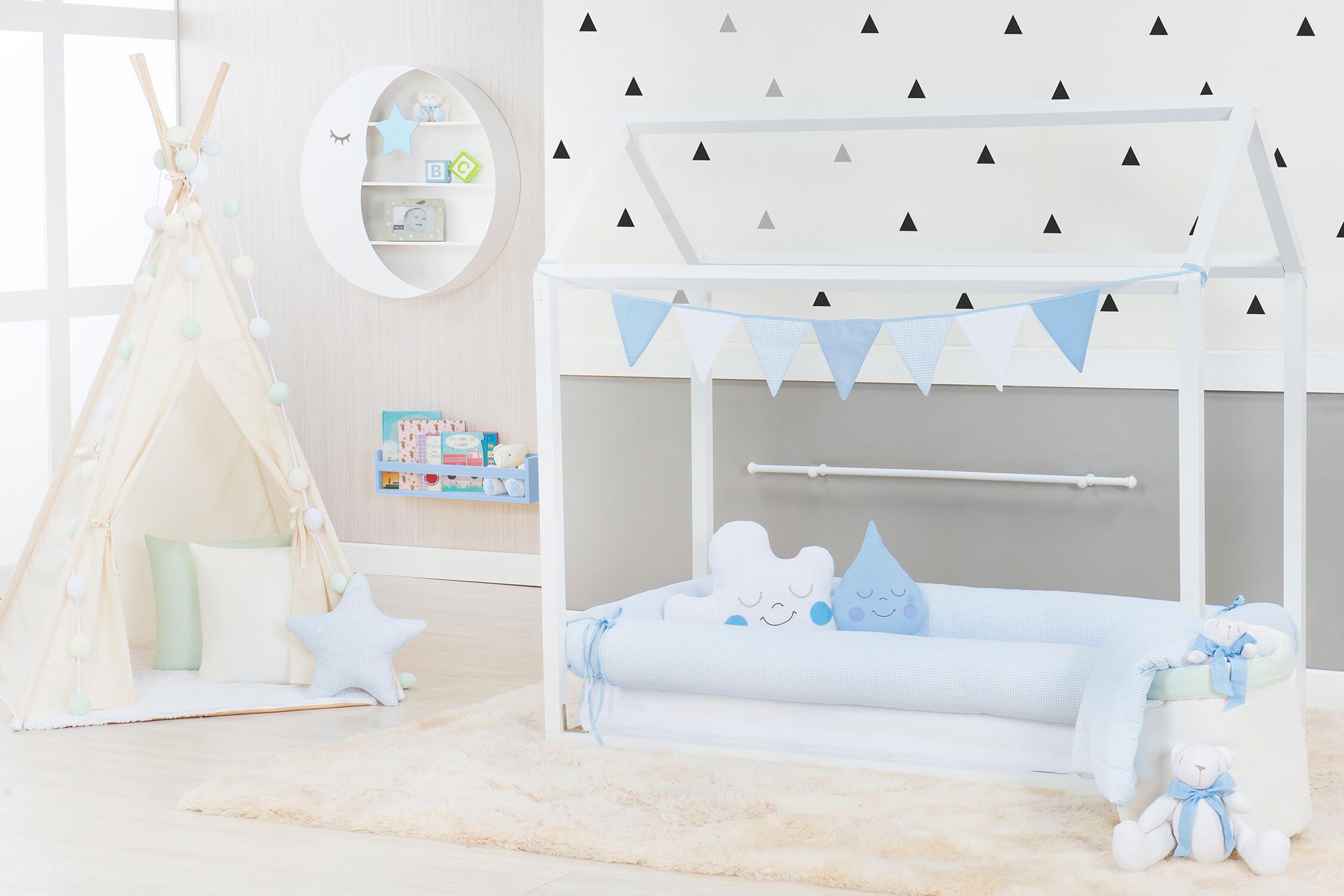 O Kit Montessoriano Azul Xadrez Deixa O Quarto Montessoriano De  ~ Quarto De Bebê Montessoriano E Quarto Para Adolescentes