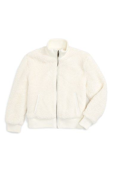 a54866a4a Tucker + Tate  Teddy  Faux Fur Bomber Jacket (Toddler Girls