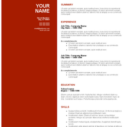 Resume Templates Free Download Word Resume Templates Download Free  Httpwwwjobresumewebsite