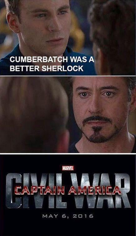Meme Watch These Captain America Civil War Memes Explain Why They Fight  captainamericacivilwarmemescumberbatchwasabettersherlock