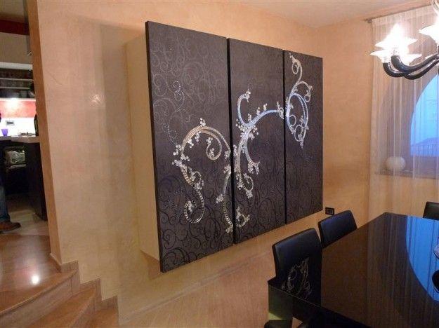 Decorazione Adesiva Armadio : Armadio decorato con carta adesiva bricolage