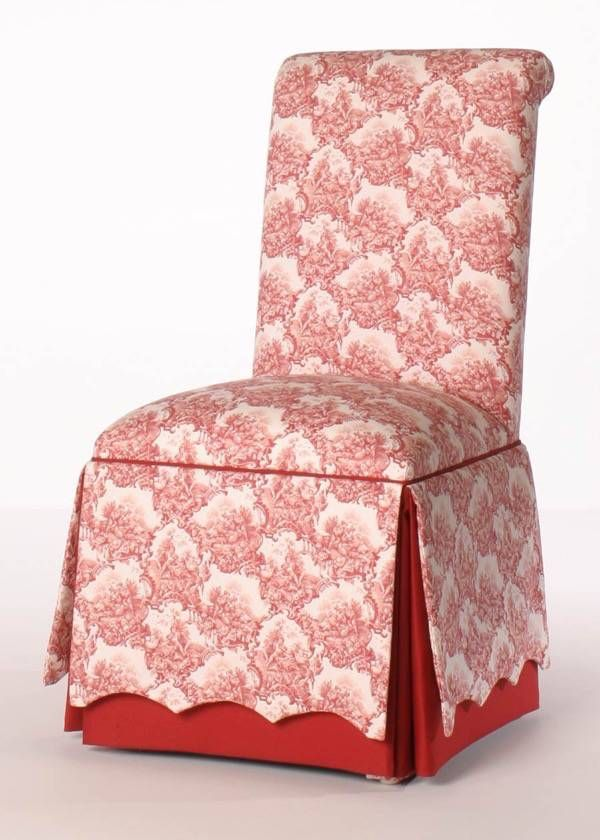 Roll Back Parsons Chair With Scalloped Skirt From Carrington Court Direct