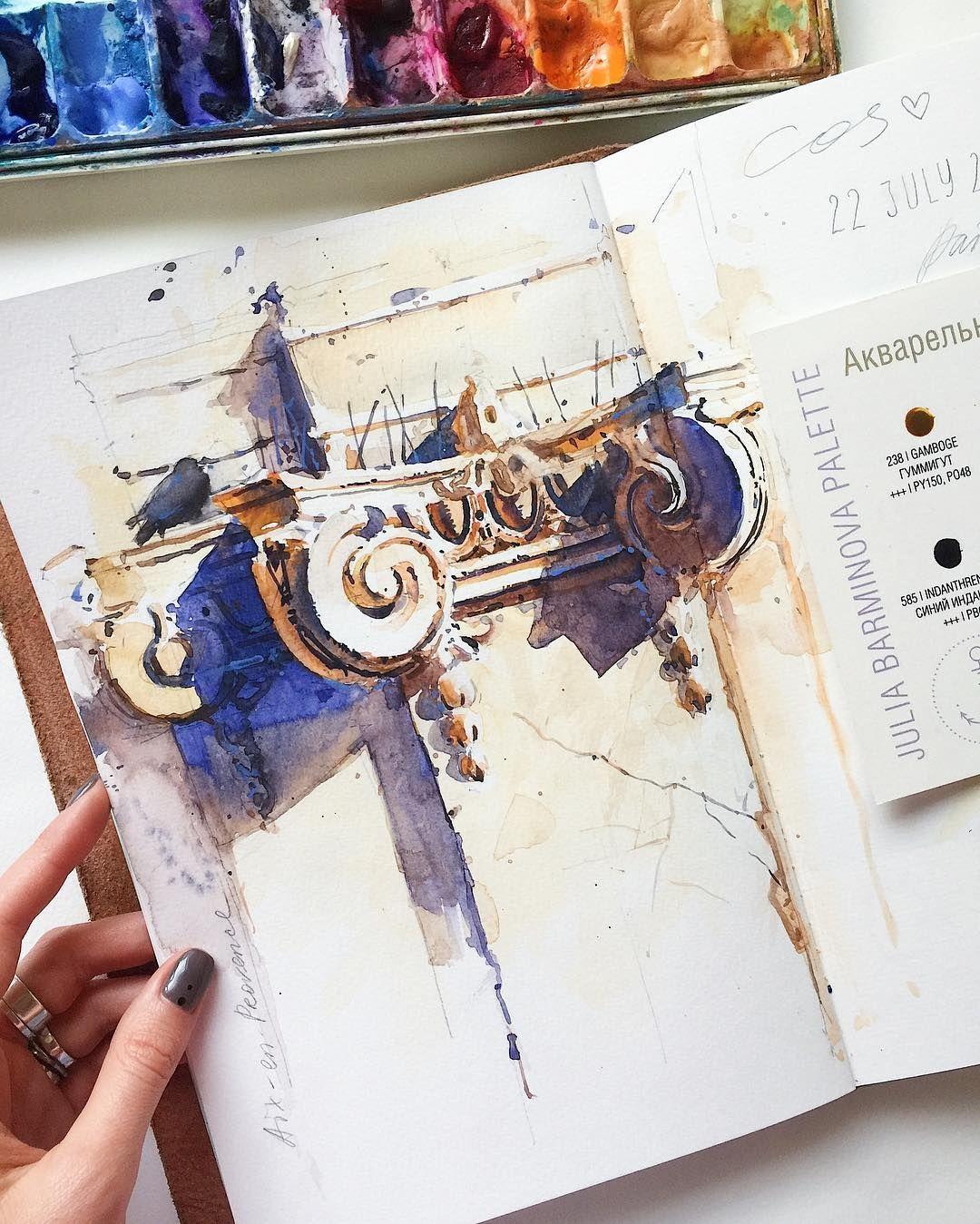 4 872 Me Gusta 80 Comentarios Julia Barminova Watercolor