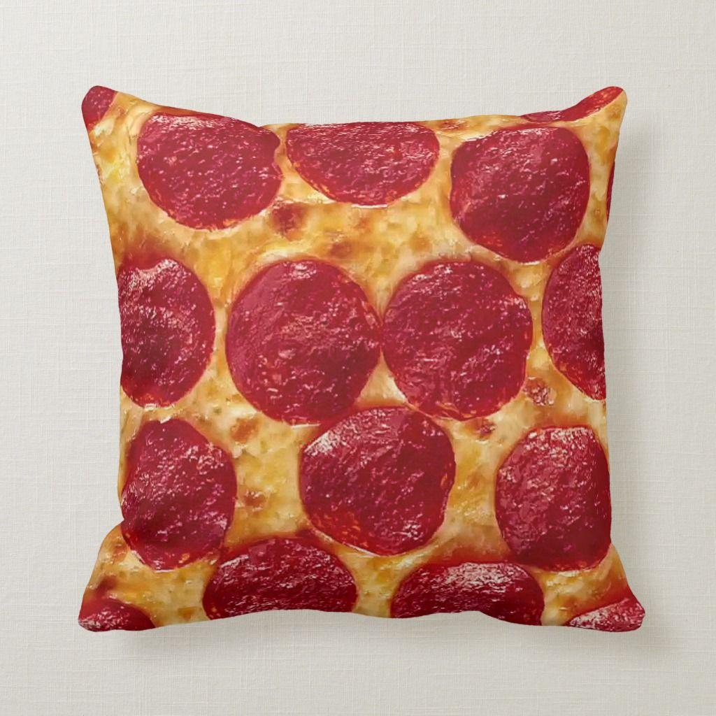 Pepperoni Pizza Throw Pillow Zazzle Com Pepperoni Pizza Throw Pillows Pepperoni