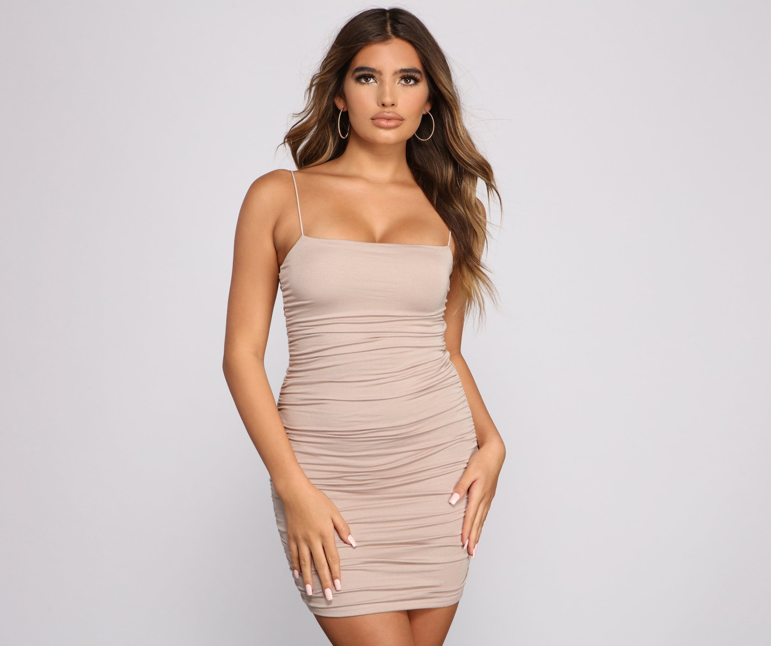 Casually Slay Square Neck Ruched Mini Dress In 2021 Mini Dress Ruched Dress Dresses [ 2145 x 2560 Pixel ]
