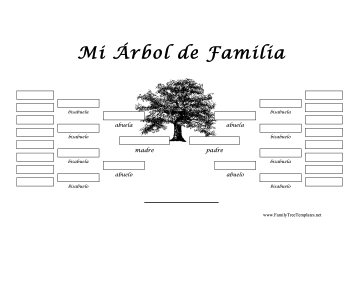 5 Generacion Arbol Genealogico Template Spanish Family Tree Family Tree Family Tree Genealogy