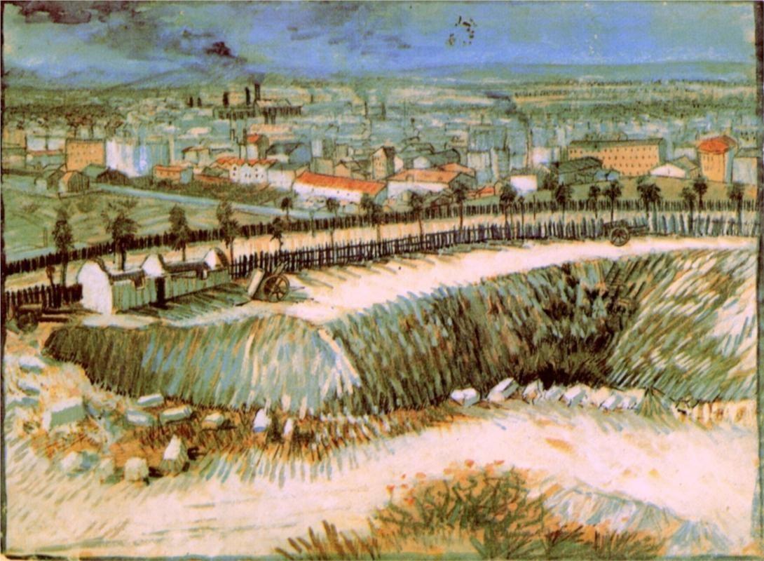 Vincent Van Gogh Outskirts Of Paris Near Montmartre 1887 Van