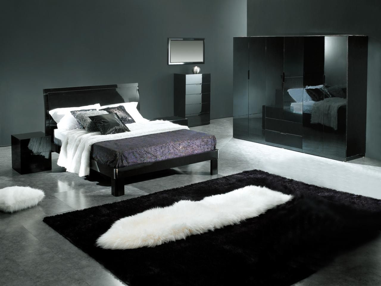 Black Room Design nice looking bedroom in black and white gorgeous design looking