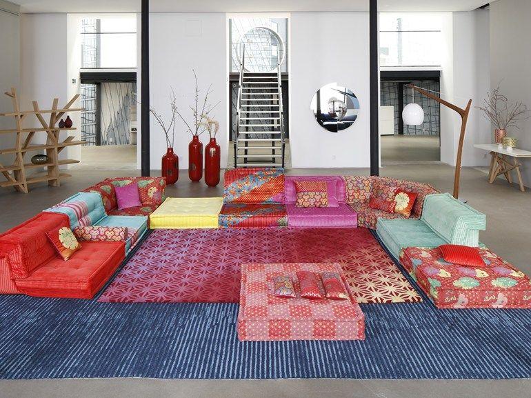 Sectional Modular Fabric Sofa Mah Jong Kenzo Takada By Roche Bobois Home Decor Home Interior