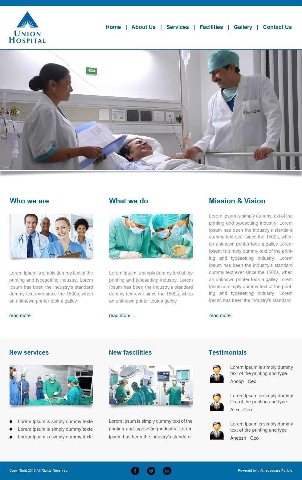 Website Template 1 Website Designing, Website Development, Custom ...