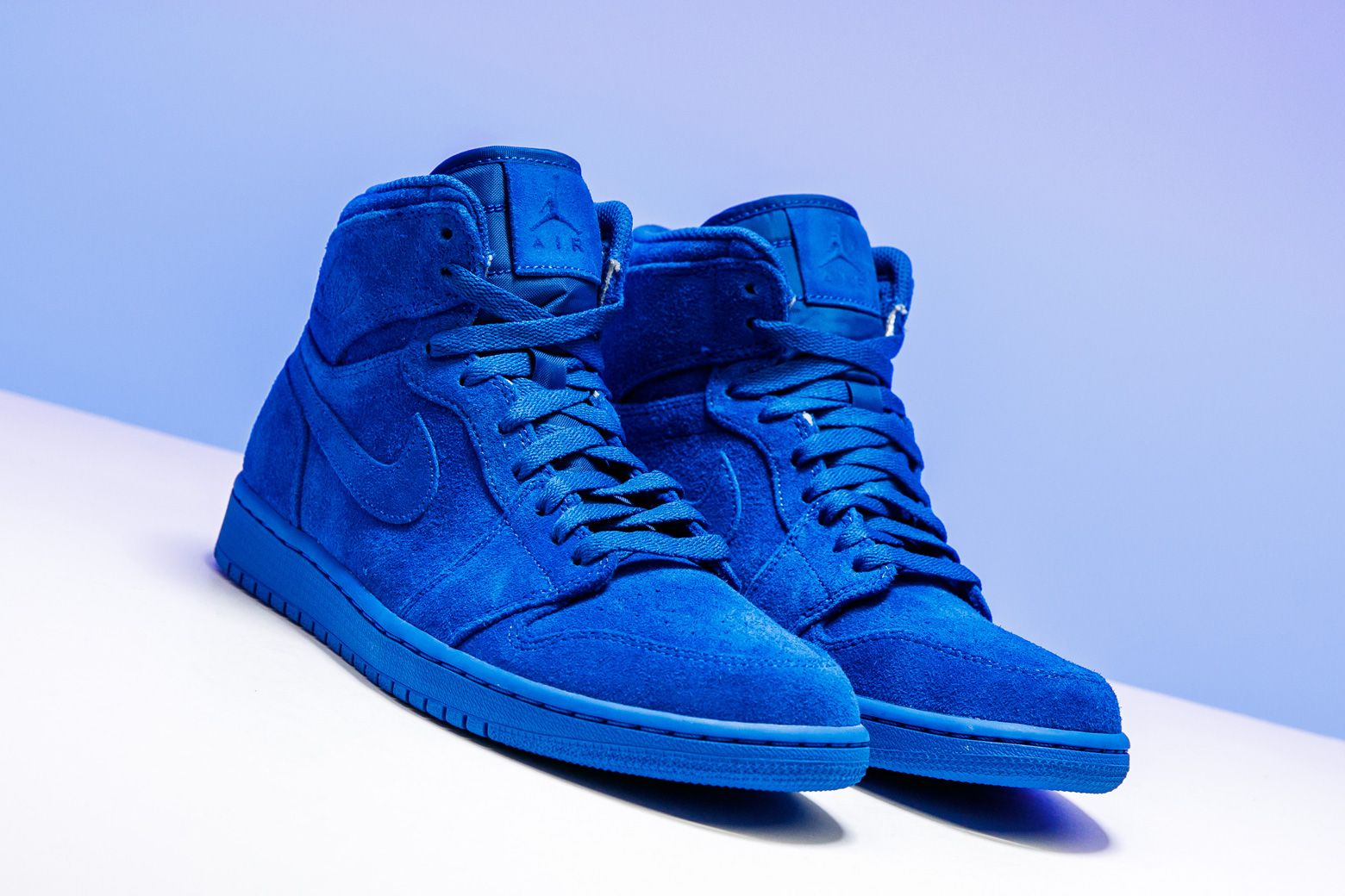 Air Jordan 1 Retro High Blue Suede 332550 404 With Images