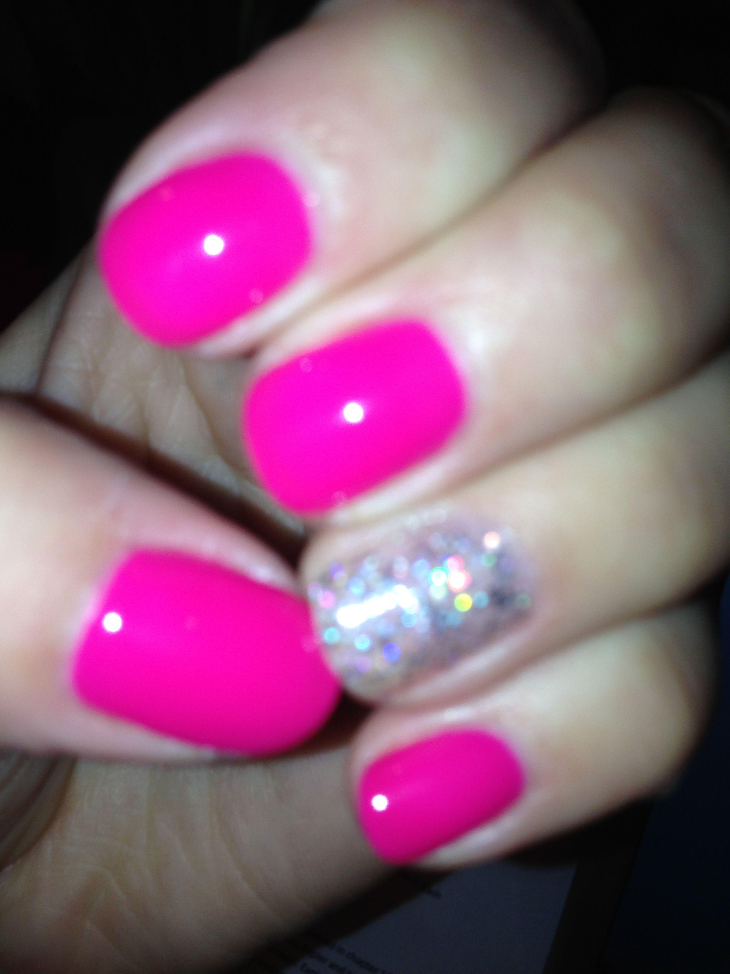 Hot pink no-chip | Nails | Pinterest | Hot pink, La nails and Nail nail