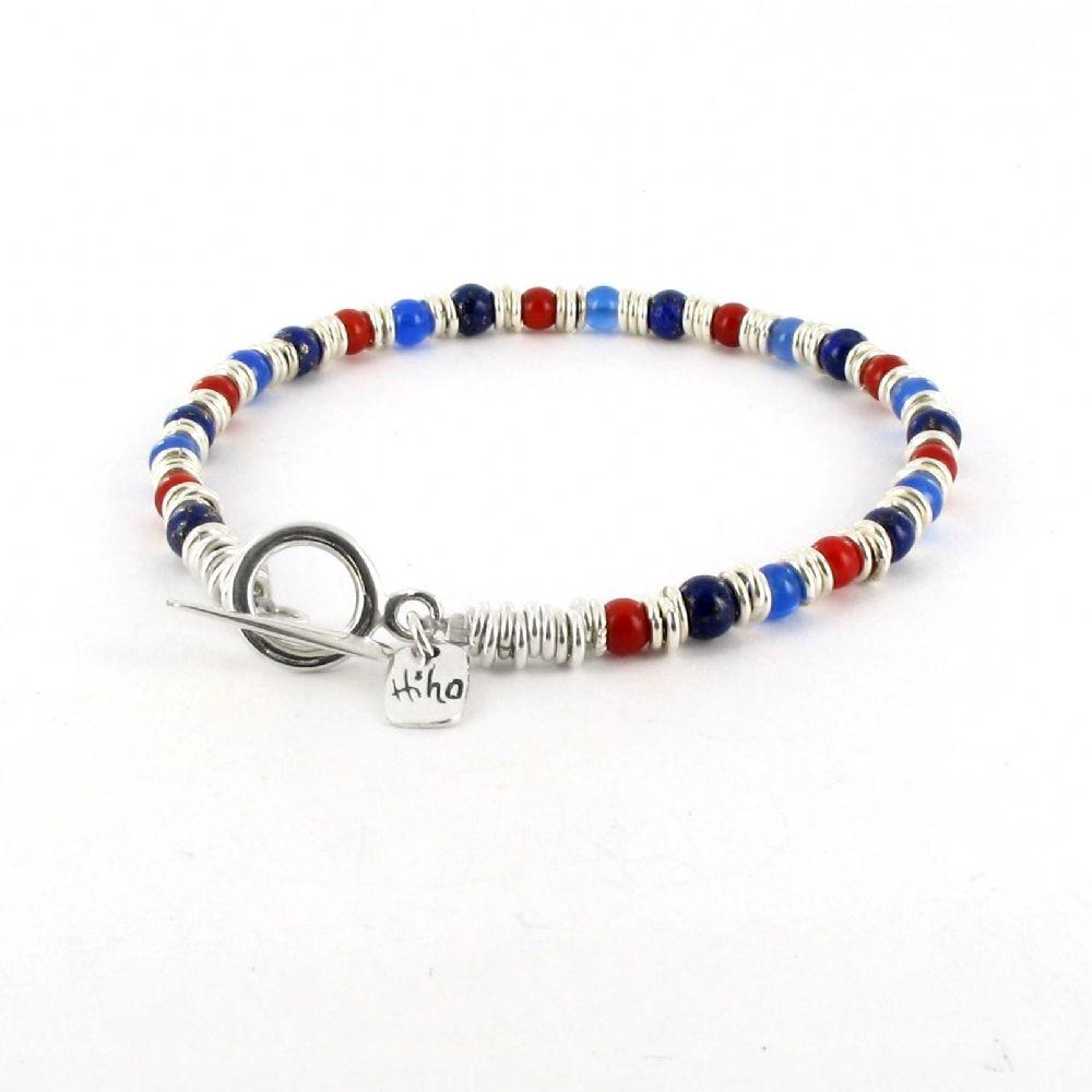 Hiho Silver Help For Heroes Leather Bracelet beMM2Q4