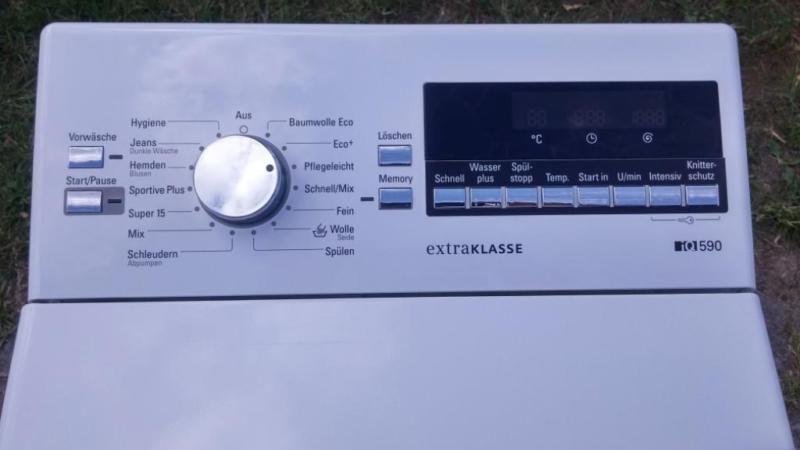 Ich verkaufe hier eine gebrauchte waschmaschine toplader von der