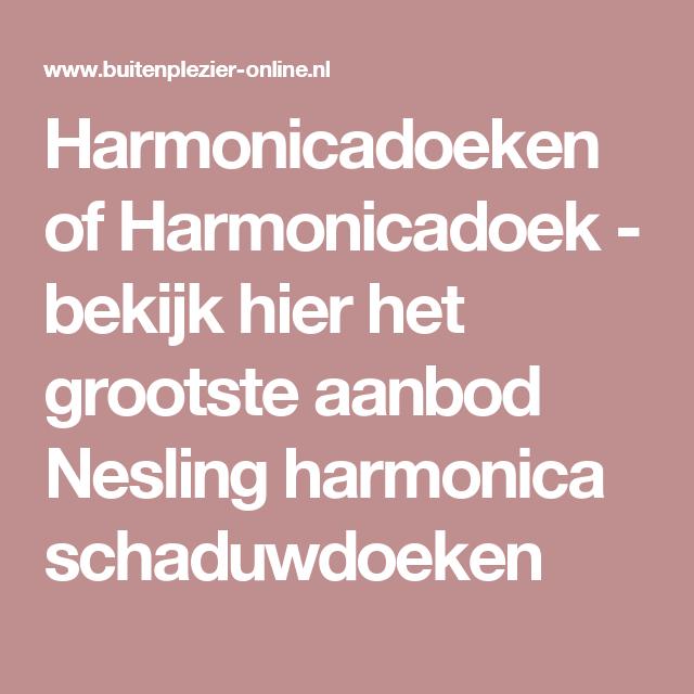 Harmonicadoeken of Harmonicadoek - bekijk hier het grootste aanbod Nesling harmonica schaduwdoeken