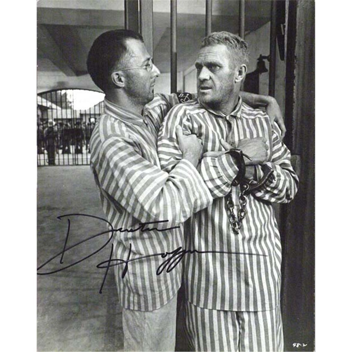 Black White Steve Mcqueen And Dustin Hoffman Screen Worn Prison