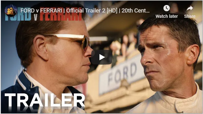 Ford V Ferrari Netflix Plans Official Trailer Ferrari Matt