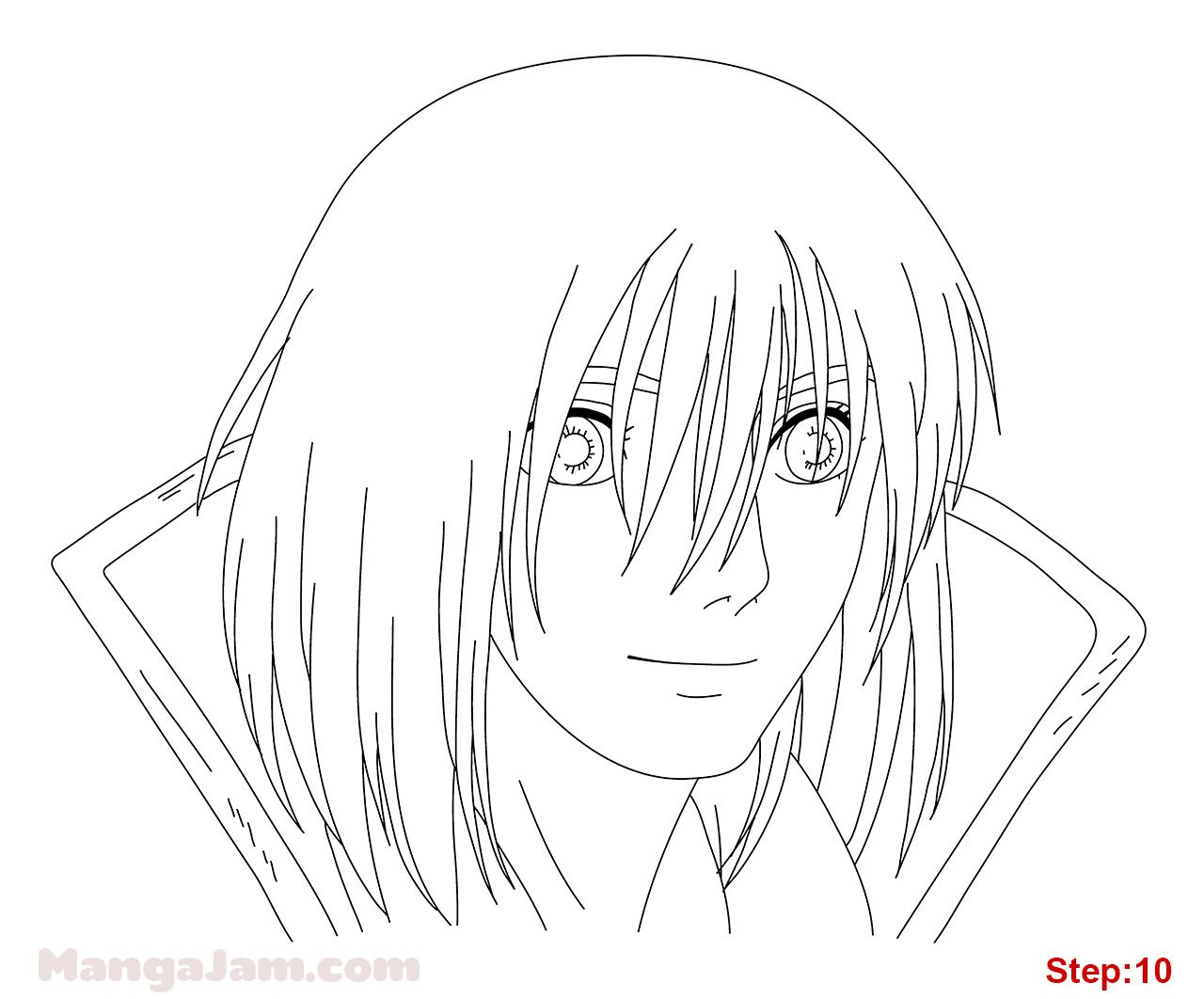 How to Draw Howl from Howls Moving Castle step 10 | Drawing | Pinterest