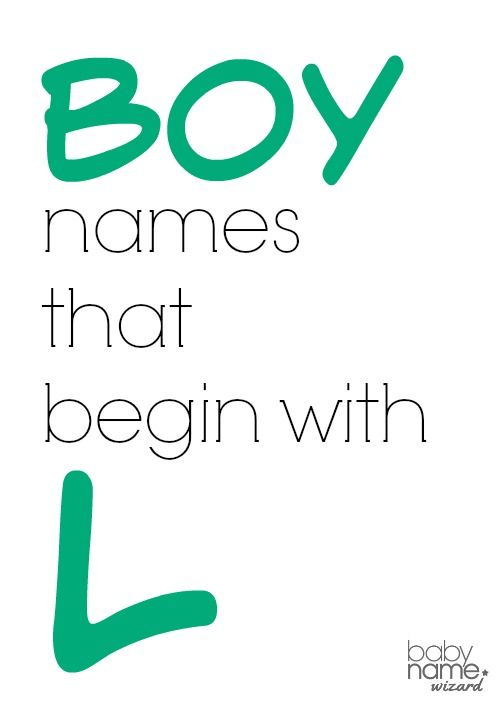 Boy names starting with L that includes meanings, origins