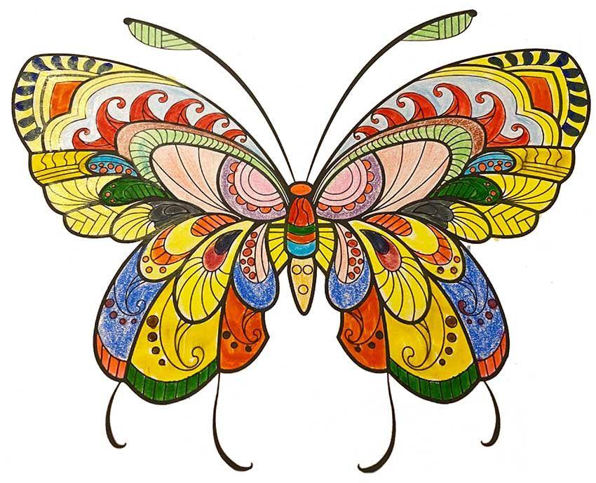 Schmetterling Malvorlage Kostenlos