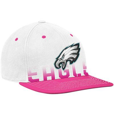 6c005cc9867 Reebok Philadelphia Eagles White-Pink Breast Cancer Awareness Flat Brim  Flex Hat