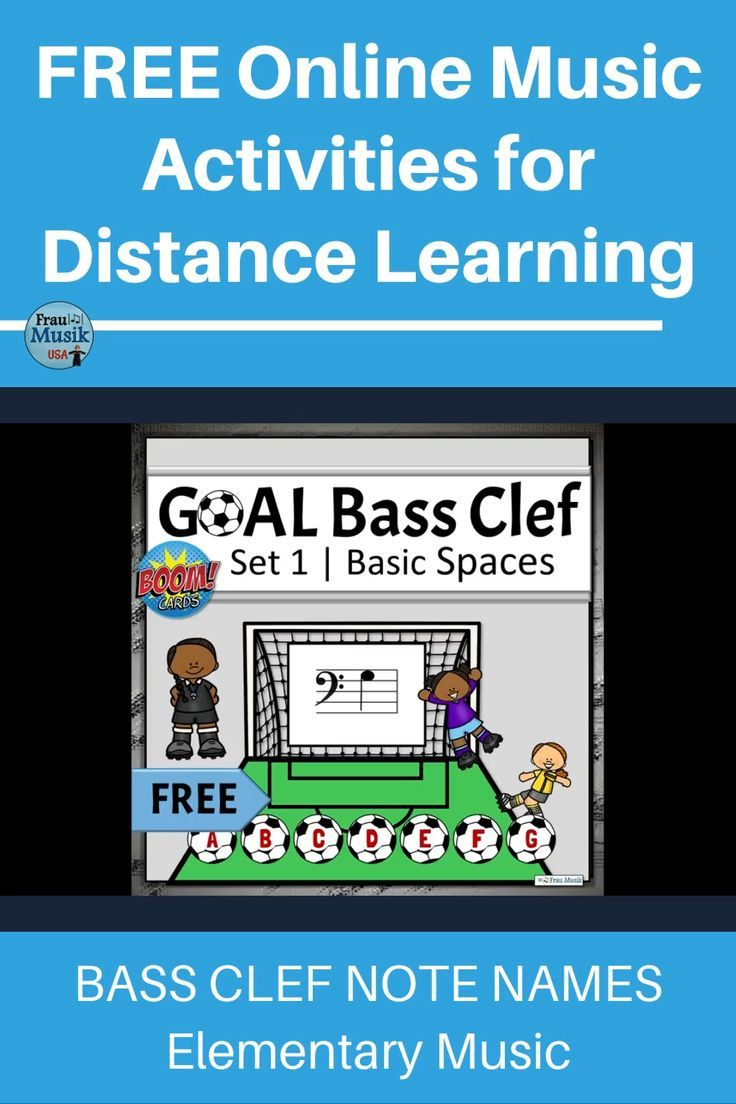 FREE Bass Clef Note Names Game Distance Learning BASIC