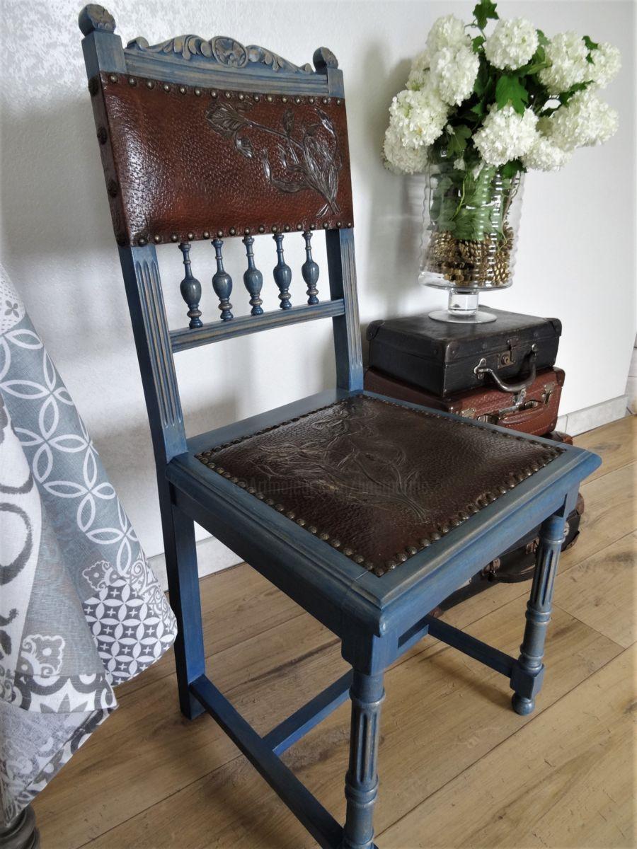 Chaise Vintage Revisitee Contemporain Artisanat 93 5x45x45 Cm C 1900 Par Lin Et Patine Chaise Vinta Chaise Vintage Relooking De Chaise Deco Chambre D Hotes