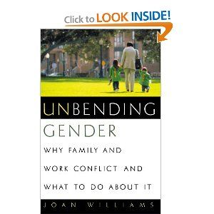 Unbending Gender: Why Family and Work Conflict and What to Do About it. Joan C. Williams' book looks at some of the conflicts between family and with workplace culture-- and proposes solutions for creating a more family-friendly environment at work.