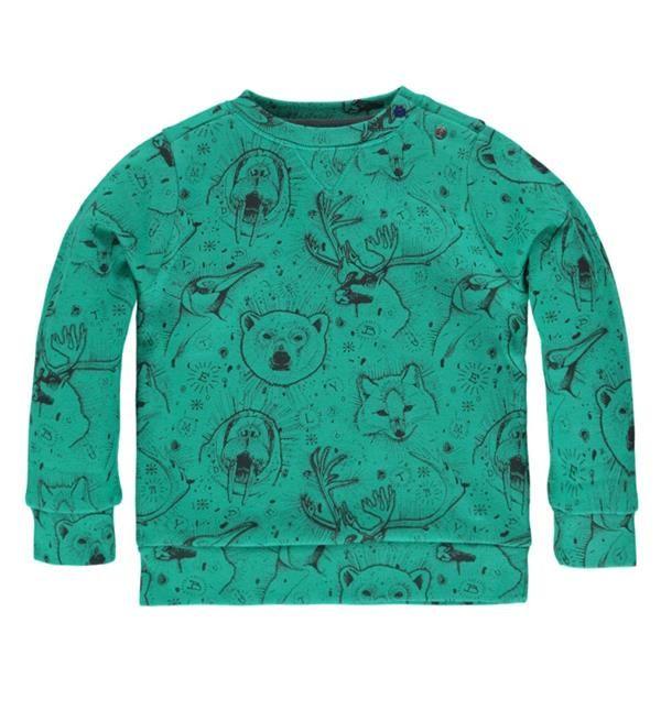 Tumble 'n Dry sweater, model Pjotr, met een all over print. Sweater van een fijne katoenkwaliteit.