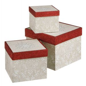 #BlackFriday Snowflake Box Set Item #542231 Features 3 different sized white box...