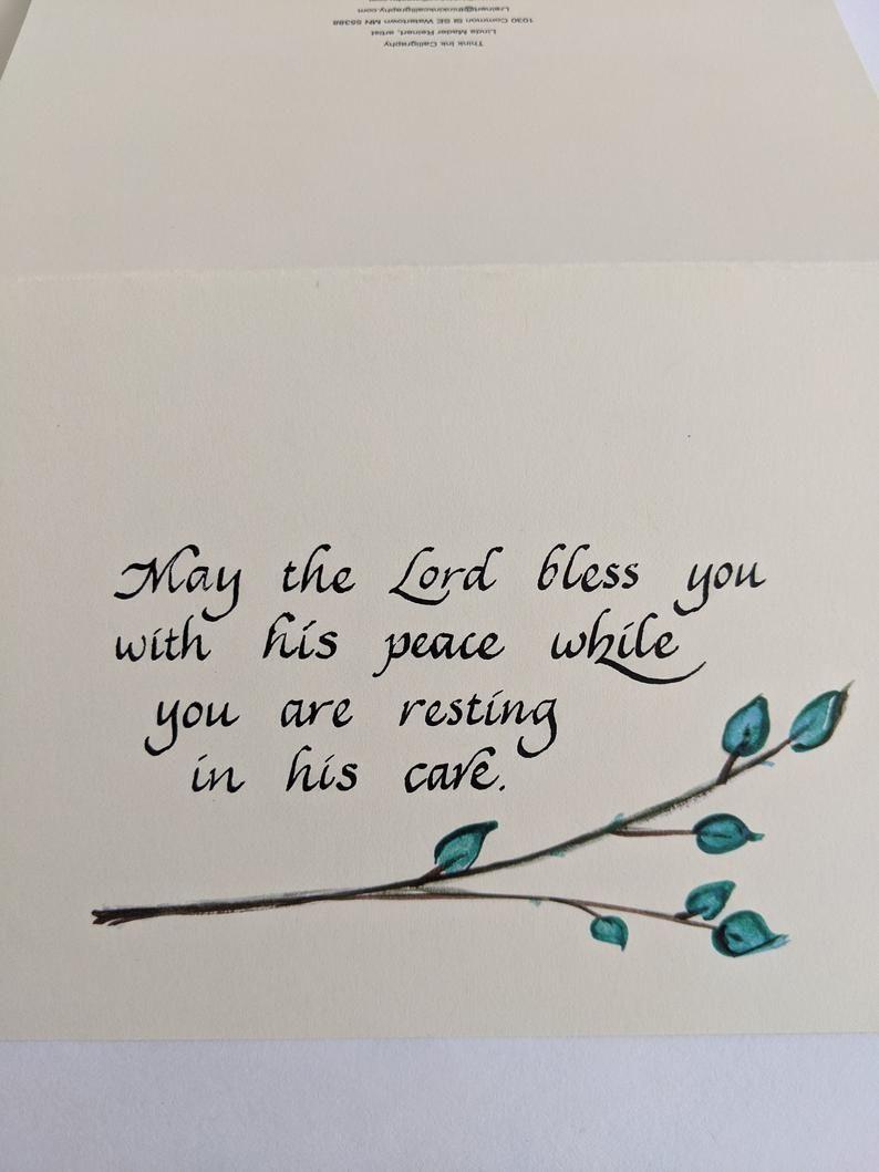Love Hope Handmade Encouragement Card Peace