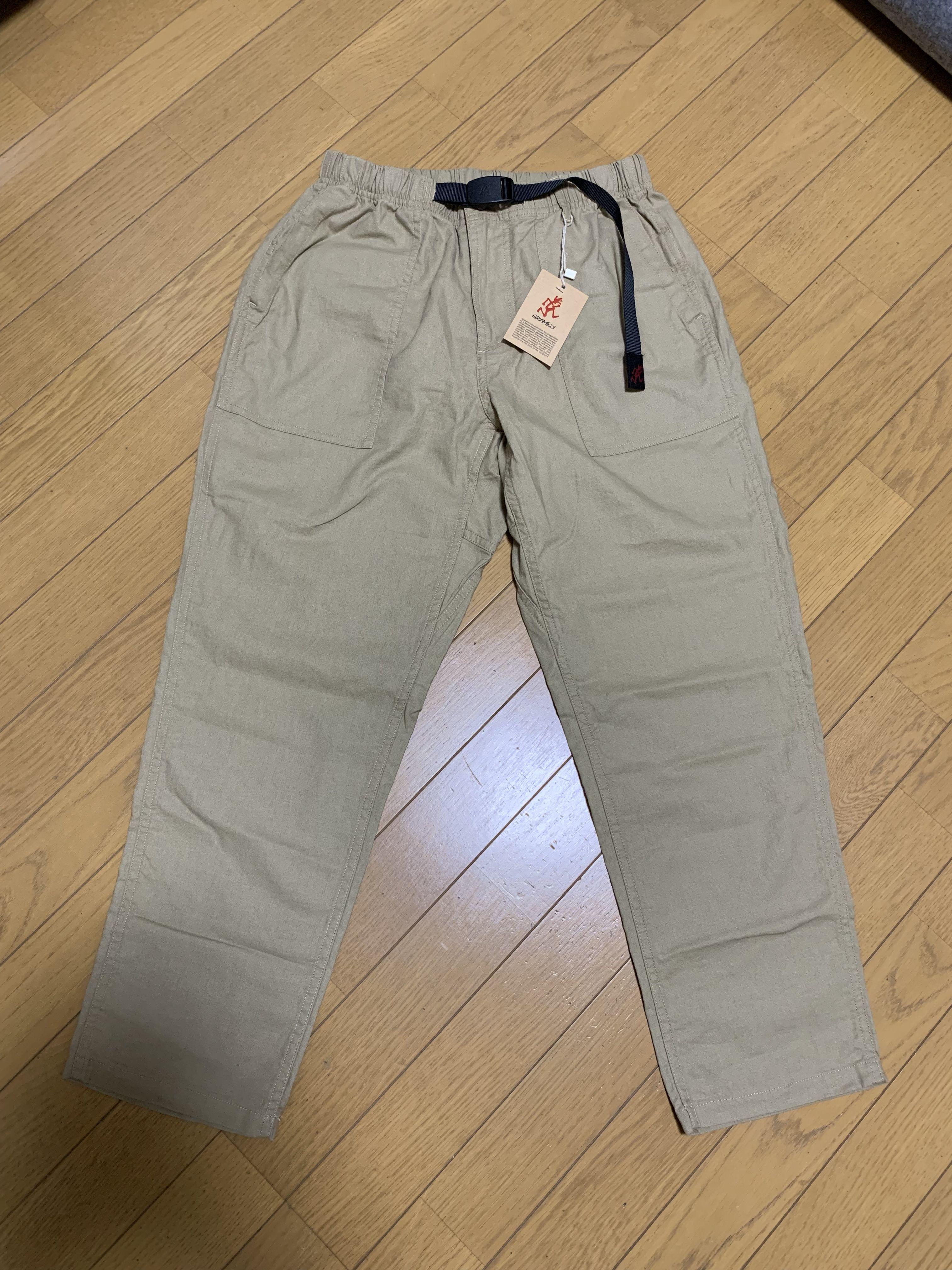 Gramicci Linen Cotton Loose Tapered Pants サイズs Khaki 南堀江のsoraさんで購入