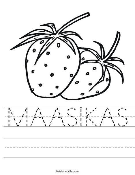 MAASIKAS Worksheet - Twisty Noodle | Worksheets ...