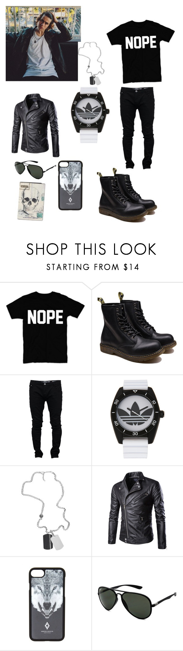 """ottd"" by angelsdevildes ❤ liked on Polyvore featuring Soul Star, adidas, Diesel, Marcelo Burlon, Ray-Ban, Alexander McQueen, men's fashion and menswear"