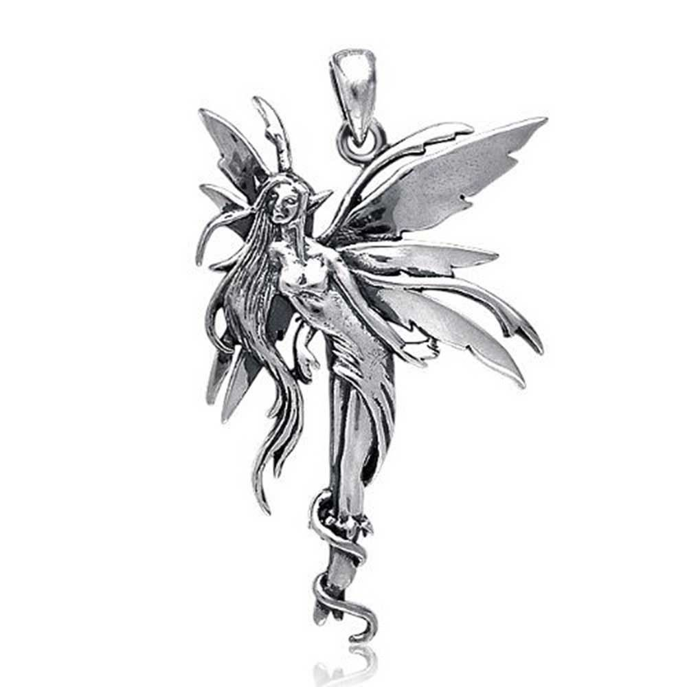 Bling jewelry mythical firefly fairy 925 sterling silver pendant mythic fairy pendant aloadofball