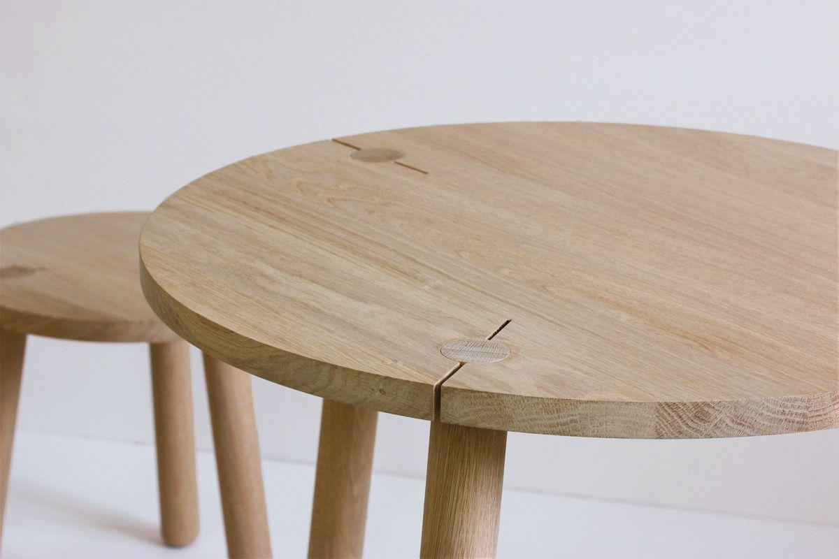 Tisch Esstisch Bistrotisch Klemm Eiche Massivholz geölt - table oak ...