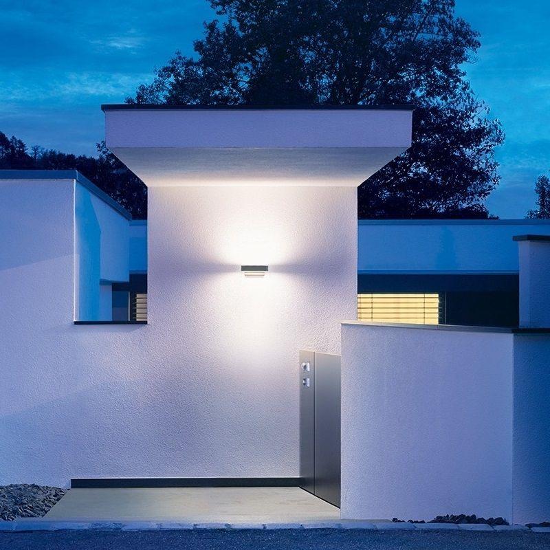 Außenleuchte Modern led außenleuchte als up und downlight mit ihf sensor len