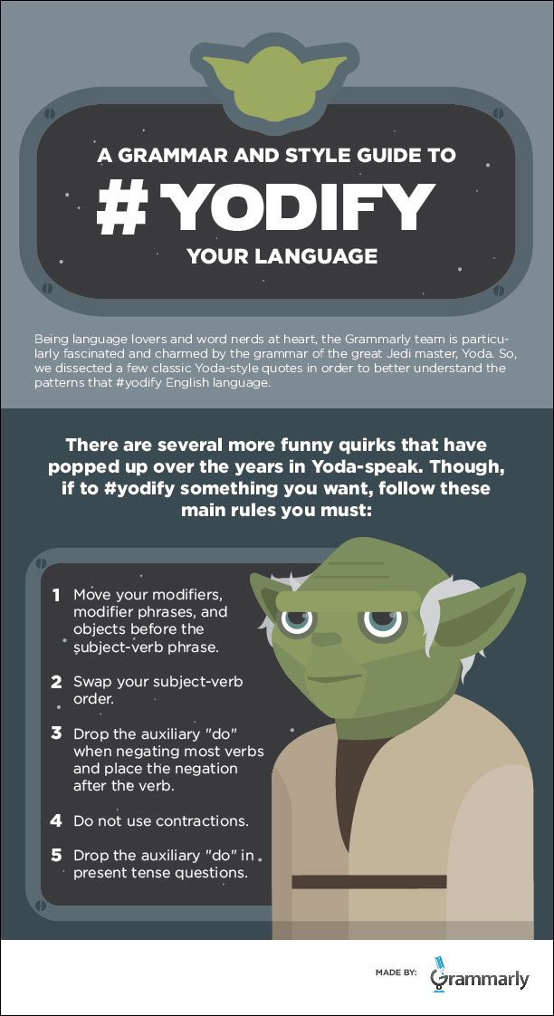 Jedi Temple Archives News Speak Like Yoda You Will Infographics