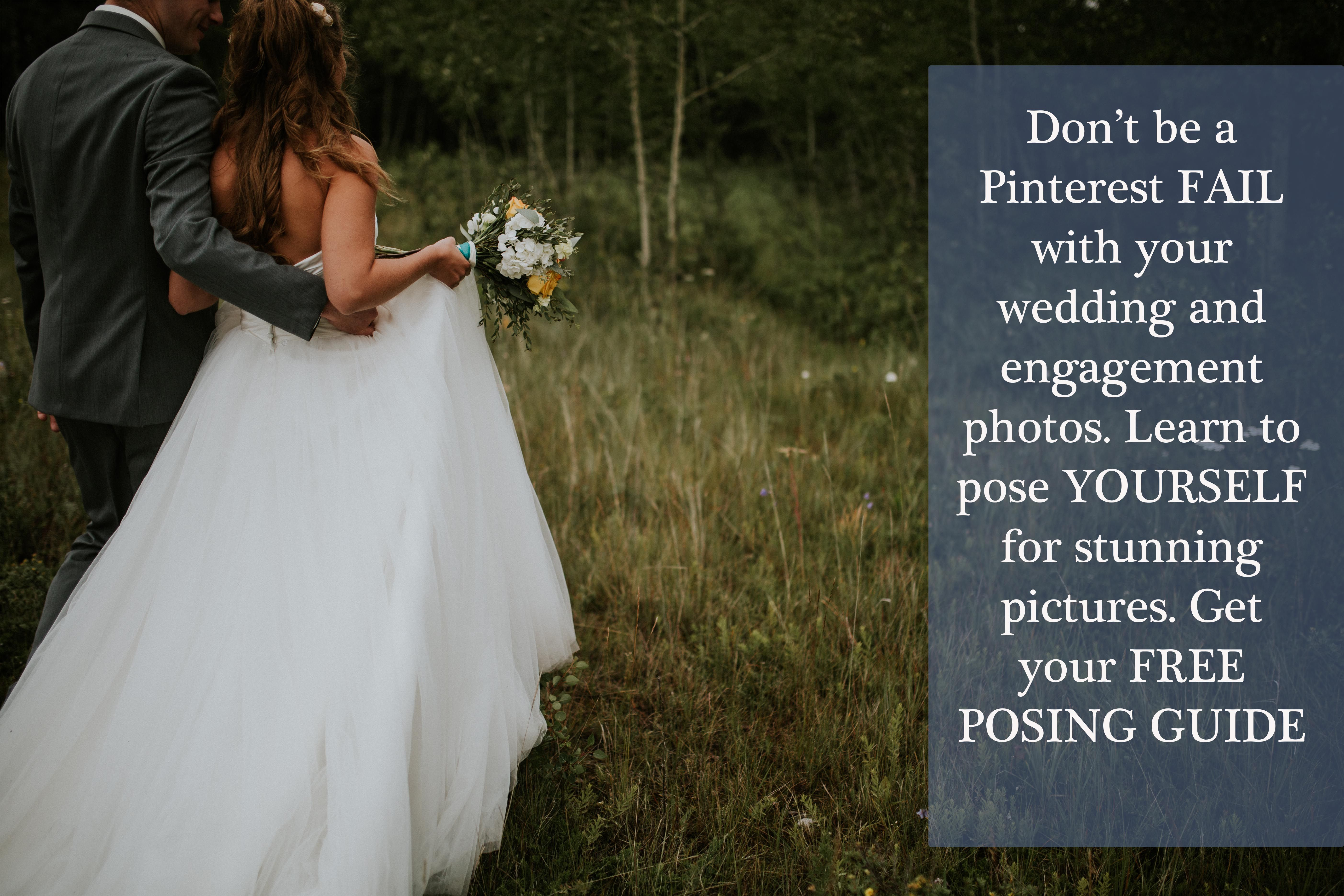 Pose yourself for wedding and engagement photos with movement and