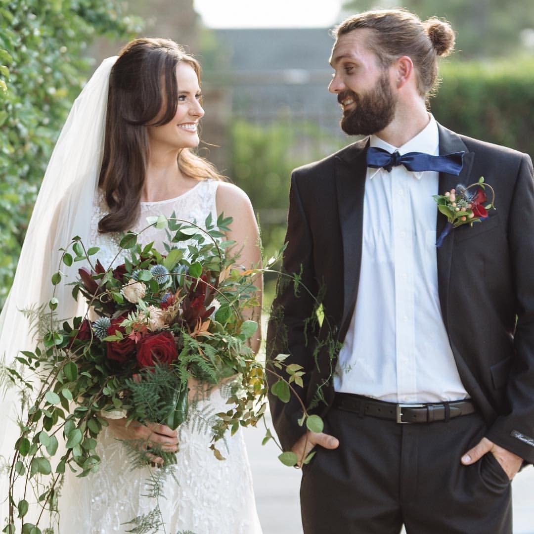 """Happy #nationalbowtieday from those of us who still aren't entirely sure how to tie one!"" #artefloradesignweddingshouston  #weddingflowershouston www.artefloradesign.com"