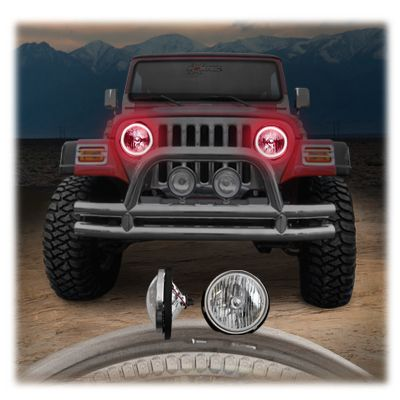 Oracle Led Smd Halo Kit To Use With Headlights For 97 06 Jeep