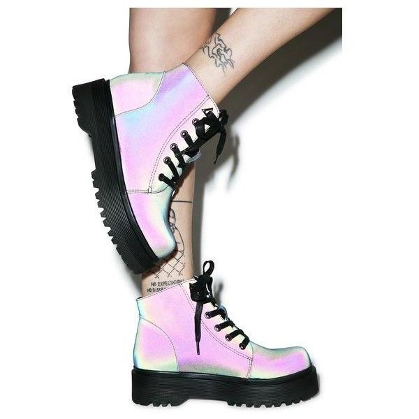 d8f00385d1 Y.R.U. X Dolls Kill G.I. Rose Platform Boots ( 109) ❤ liked on Polyvore  featuring shoes