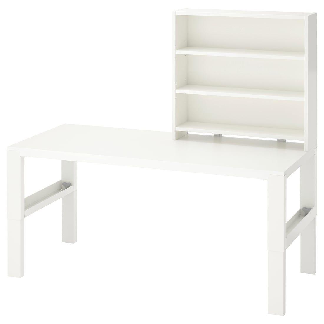 Pahl Desk With Add On Unit White 128x58 Cm Find It Here Ikea In 2020 Ikea Desk Shelves White Desks