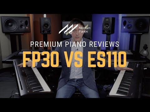2 Roland Fp 30 Vs Kawai Es110 Digital Piano Comparison Review Demo Youtube Digital Piano Kawai Digital Piano Digital