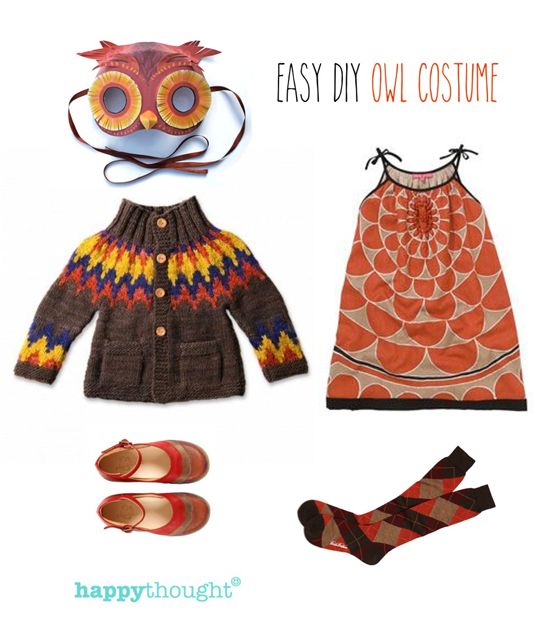 Simple diy ideas easy fun dress up animal costume ideas owl 10 animal costume ideas easy owl costume with printable owl mask halloweencostume easycostume solutioingenieria Images