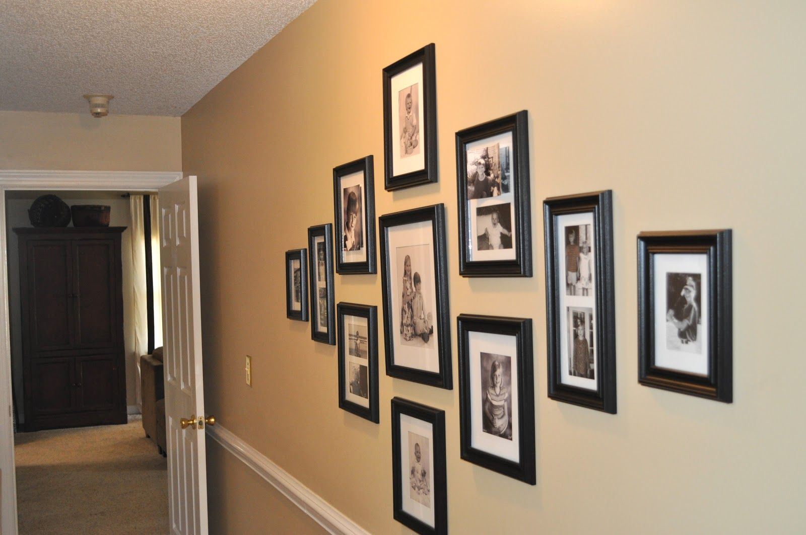 Image result for grouping framed photos family wall decor