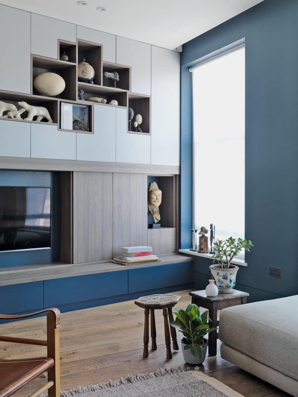 Maison Dans Le West End De Londreswa Storage Spaces  # Pan De Mur Avec Tv